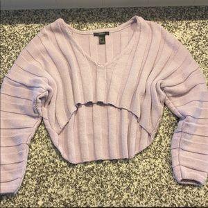 Purple crop sweater